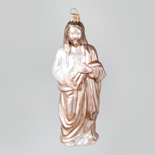 """Christbaumkugel, Josef von der """"Heilige Familie"""", 5 x 14 cm"""