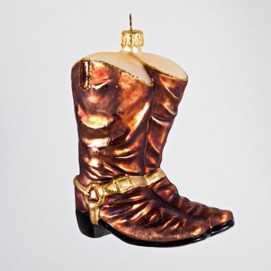 Christbaumkugel, Cowboystiefel, 8 x 10 cm