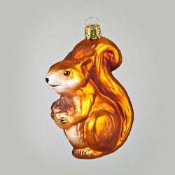 Christbaumkugel, Kleines Eichhörnchen, 4,5 x 9,5 cm
