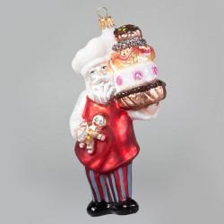 Christbaumkugel, Nikolaus-Bäcker, 10 x 15 cm