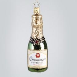 Christbaumkugel, Champagner Flasche, 4 x 12 cm