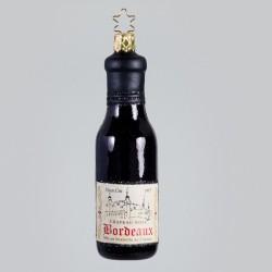 Christbaumkugel, Bordeaux Rotwein-Flasche, 4 x 11 cm