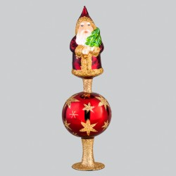"""Christbaumspitze, Weihnachtsmann """"Brilliant gekrönt"""", 22 cm"""