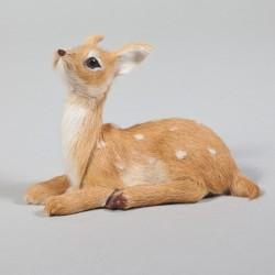 Tierminiatur, Reh, liegend, Kopf hoch, 10 x 8 cm