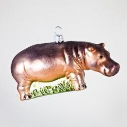 Christbaumkugel, Hippo, 12 x 6 cm
