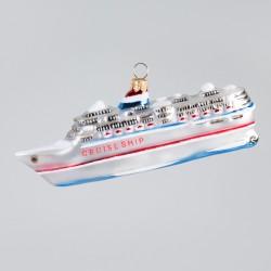 "Christbaumkugel, Kreuzfahrtschiff ""Cruise Ship"", 4,5 x 13,5 cm"