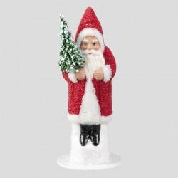 Weihnachtsmann, Rot, geperlt, 15 cm