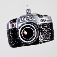 Christbaumkugel, Leica Fotoapparat, 10 x 7 cm