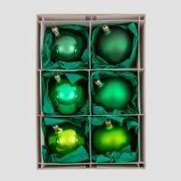 Christbaumkugeln, Kugelmischung, Tannengrün-Mix, ø 10 cm