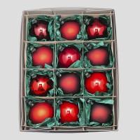 Christbaumkugeln, Kugelmischung, Rot-Mix auf Clip, ø 8 cm