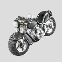 Christbaumkugel, Chopper-Motorrad, Schwarz, 12 x 7 cm