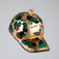 Christbaumkugel, Hunting-Cap, 5,5 x 11 cm