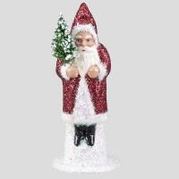 Weihnachtsmann, Rot, Glitter, 15 cm