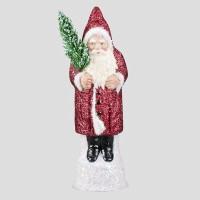 Weihnachtsmann, Rot, Glitter, 26 cm