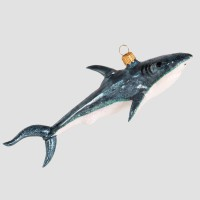Christbaumfigur, Kleiner Hai, blau, 16 x 6 cm