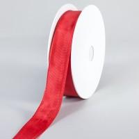 Geschenkband, Schleifenband, uni, Hellrot/Weihnachtsrot