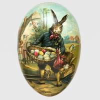 "Osterdekoration, Füll-Osterei ""Hase mit Eierkorb"", 15 cm"