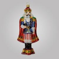Christbaumfigur, Nussknacker auf Podest, 8 x 16 cm