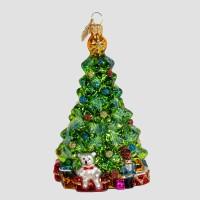 Christbaumfigur, Kleiner Christbaum mit Geschenken, 7 x 11 cm