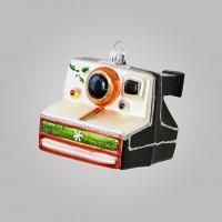 Christbaumfigur, Polaroid-Kamara, schwarz, 8 x 8 cm